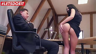 LETSDOEIT - #July Sun #Big George - Deutsche Secretary Has A Thing For Her Older Big Cock Boss