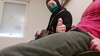 I take my cock out in the waiting room in front of her...
