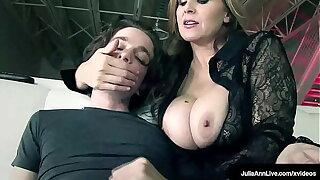 Beamy Boobies & Hot Mommies! Julia Ann Makes Pal Toy Jizz In His Mouth!