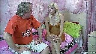 Debaucher gets a blowjob from a hot mart teen