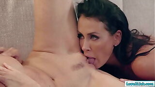 2 grown-up milfs going down on each other