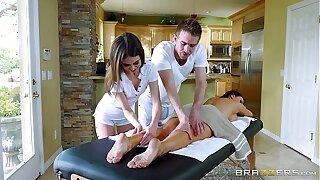 Brazzers - Off colour threesome massage