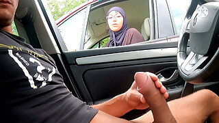 I entice out my cock on this highway area – face this Muslim!!