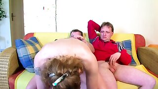 Real German Mature Fastener get First Threesome with Non-native